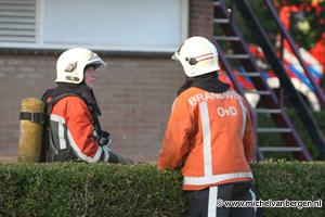 Foto Brand in kantine voetbalvereniging VVH Haarlem