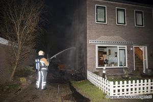 Foto Brandweer voorkomt woningbrand