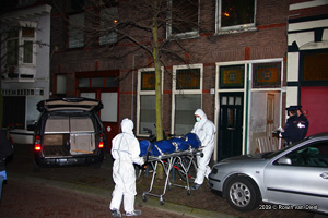 Foto Forensisch onderzoek team onderzoekt dood