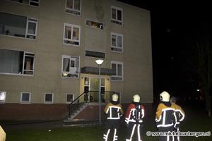 Foto Vier gewonden bij woningbrand Vincent van Goghlaan