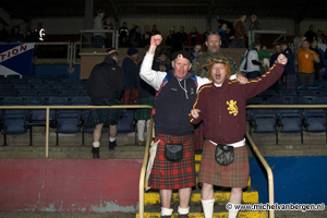 Foto Schotse voetbalfans bezoeken massaal wedstrijd HFC Haarlem