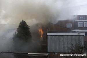 Foto Grote woningbrand in Begijnenstraat in Beverwijk