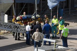 Foto Twee bouwvakkers zwaar gewond bij val