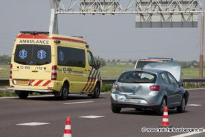 Foto Kettingbotsing op de A9 richting Spaarndam