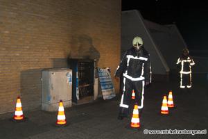 Foto Politiebureau Schalkwijk stroomloos door brand in electriciteitskastje