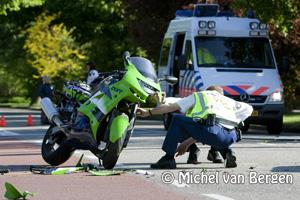 Foto Motorrijder raakt ernstig gewond bij verkeersongeval Heemsteedse Dreef