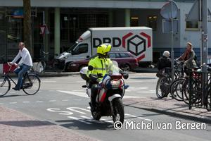 Foto Nieuwe verkeerssituatie Stationsplein in Haarlem