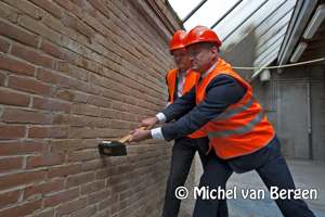 Foto Werkzaamheden Deliterrein in de Transvaalstraat in Haarlem gestart