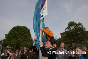 Foto Gemeente Haarlem onthult eerste stopsverbodbord