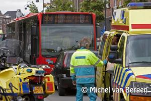 Foto Passagiers door bus geslingerd na noodstop Zuidtangent