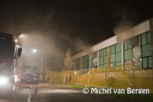 Foto Wederom brand in leegstaand Damiate College in Haarlem