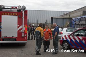 Foto Brand in luchtafvoer van lasinstallatie bij bedrijf aan Weerenweg in Zwanenburg