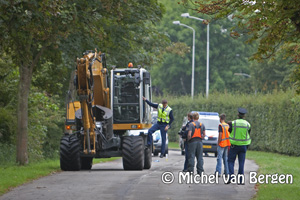 Foto Man overleden na aanrijding mobiele kraan Willem de Zwijgerlaan Haarlem