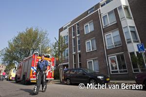 Foto Traumahelikopter voor Verfrollerbrug in centrum Haarlem trekt veel bekijks