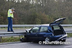 Foto Lange files en omleidingen door ongeval A9 ter hoogte van Velserbroek