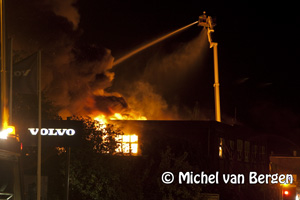 Foto's Zeer grote brand Beo Brackman Electronics BV Nijverheidslaan Weesp
