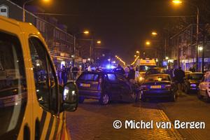 Foto Aanrijding Kennemerlaan IJmuiden tussen vier personenauto's