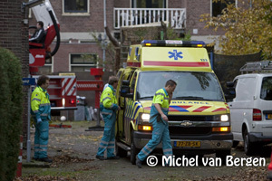 Foto Bouwvakker ernstig gewond na val van steiger Schotersingel Haarlem