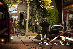 Foto Brand in woning Langemaad in Velserbroek
