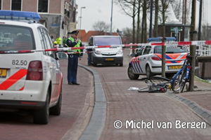 Foto Overvaller juwelier Barteljorisstraat Haarlem op heterdaad aangehouden