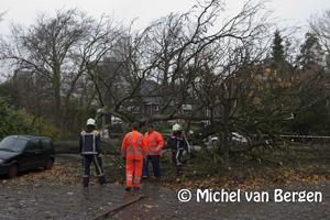 Foto Veel overlast in de regio door de hevige storm