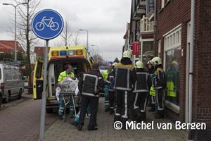 Foto Man gewond na val op de Zandvoortselaan in Heemstede