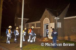Foto Brand in oude leegstaande Kerk Diepenbrockstraat Haarlem