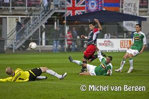 Foto HFC Haarlem verliest kansloos tegen FC Dordrecht