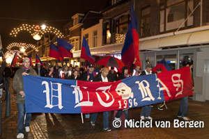 Foto Actieloop door Haarlem van HFC Haarlem supporters