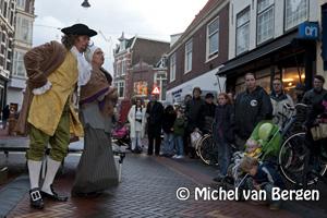 Foto Spectaculaire opening 'Krater 1573' in de Kruisstraat te Haarlem