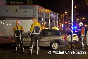 Foto Persoon gewond bij ongeval Amerikaweg in Haarlem