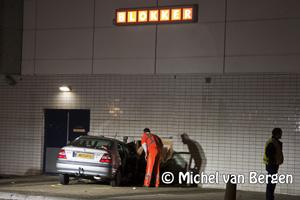 Foto Auto ramt druk Blokker-filiaal winkelcentrum Schalkwijk Haarlem