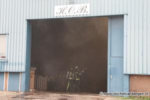 Foto's zeer grote brand Marconistraat Hillegom