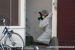Foto's moord onderzoek woning