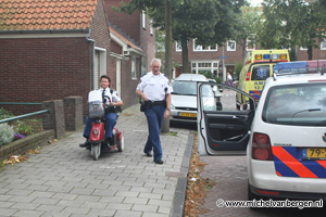 Foto's scootmobiel politie