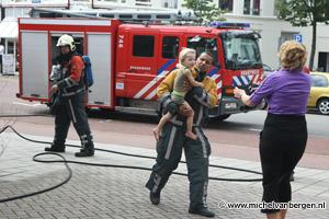 Foto's Brand bij kinderdagverblijf De Schuylenburgh