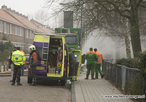 Foto's ontruiming na gaslek Christiaan Huygensplein