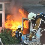 Felle uitslaande brand Borneostraat Haarlem