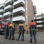 Muren flat van Speijkstraat Zandvoort gestut