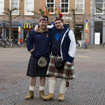 Schotten bezoeken Haarlem in afwachting van het WK kwalificatiew