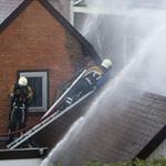 Grote woningbrand in Begijnenstraat in Beverwijk