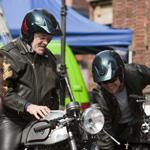 Bennie en Gijs Jolink voor reclame commercial in Haarlem