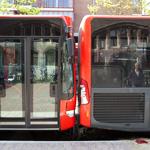 Flinke schade bij aanrijding tussen twee Zuidtangent bussen
