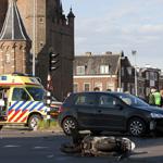 Motorrijder raakt ernstig gewond bij ongeval voor Amsterdamse Po