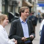 Alexander Pechtold en Sophie in 't Veld van D66 bezoeken Haarlem