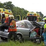 Verkeer westelijke randweg Haarlem muurvast na verkeersongeval