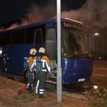 Bus loopt brandschade op na kortsluiting in het dashboard