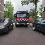 Brandweer heeft problemen met nauwe straatjes achter de Cronje