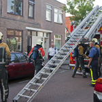 kleine binnenbrand in de Benviljoenstraat in Haarlem noord