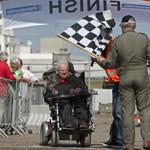 Scootmobielrace op het Circuit Park Zandvoort (incl race met pol